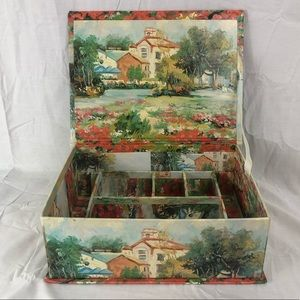 Vintage style storage box with compartments